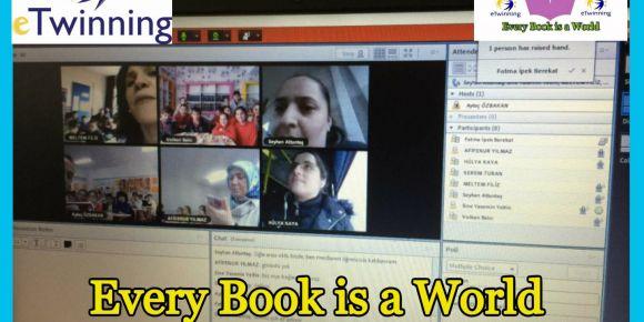 Her Kitap Bir Dünya adlı eTwinning projemizde tüm ortaklarımız webinar heyecanı yaşadılar