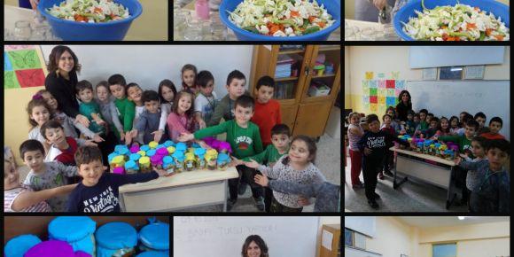 Beslenme dostu okulundan turşu yapımı