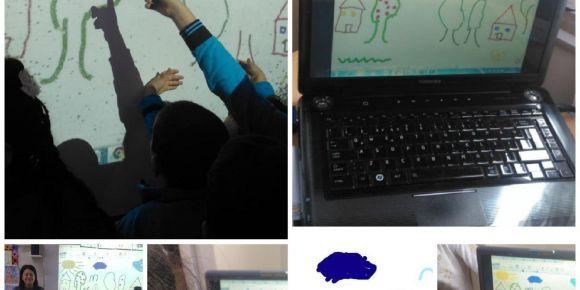 Etwinning proje ortaklarının  web araçları ile  ortak resim çalışması