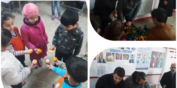 Nizip Cumhuriyet İlkokulu meyve günleri başladı