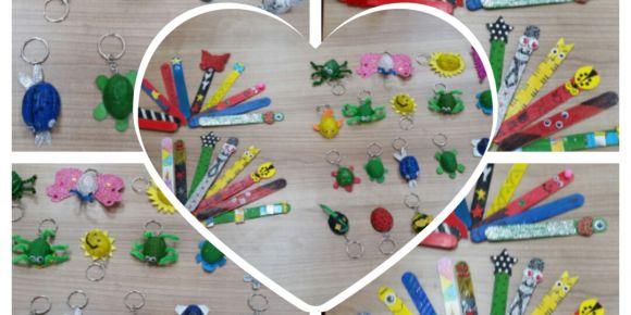 Hacıbey İlkokulu öğrencileri atık malzemelerde yeni yıl hediyesi tasarladılar