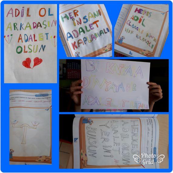 adalet ile ilgili sloganlar yazdik