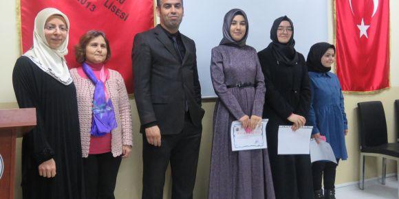 Kur'an-ı Kerim'i Güzel Okuma Yarışmasında Sincan Kız Anadolu İmam Hatip Lisesi Birinci