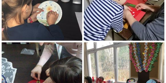 Veli öğrenci çalışması olan saatlerle, sınıfımızda saatleri öğreniyoruz