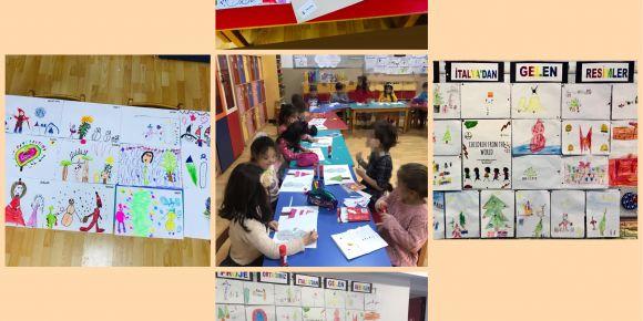 Ana sınıfı öğrencileri İtalya ile mektuplaşıyor