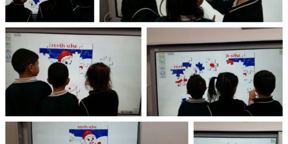 Kastamonu Hacıbey İlkokulu öğrencilerinin yapboz etkinliği