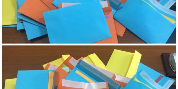 Yeni yılda eşleştiğimiz okullara tebrik kartları yolladık