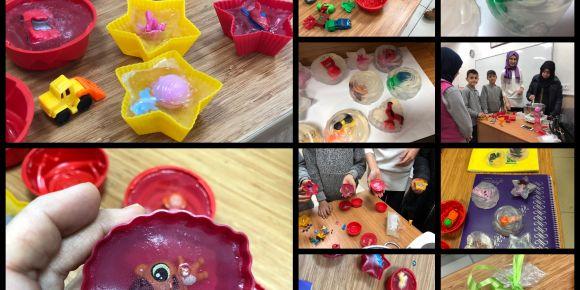 Şehit Sevgi Yeşilyurt İmam Hatip Ortaokulu öğrencileri oyuncaklı sabun yaptılar