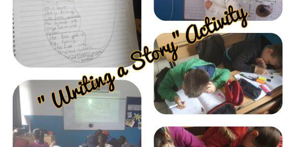 İngilizce dersinde hikaye yazma etkinliği