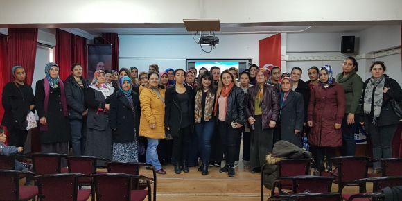 """Velilerimize """"Bilinçli Aile Mutlu Çocuklar Projesi"""" semineri verildi"""