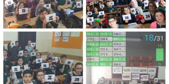 Yunusemre Atatürk Ortaokulu öğrencileri Plickers ile tanıştı