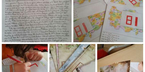 """""""81 Kitap Okuyorum, 81 İl Tanıyorum"""" eTwinning projesi ocak ayı etkinlikkleri"""