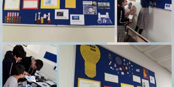"""e- Twinning projesi """"What is science?"""" kapsamında aralık ayı panomuzu hazırladık."""