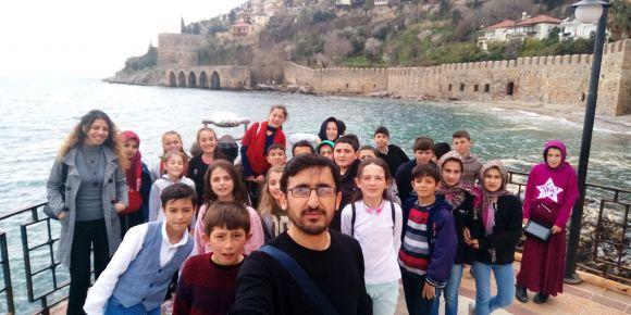 6.sınıf öğrencilerimiz ilk kez Alanya'yı gezdi