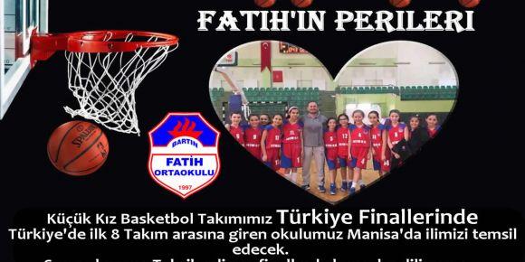 Bartın Fatih Ortaokulu küçük kız basket takımı Türkiye finallerinde