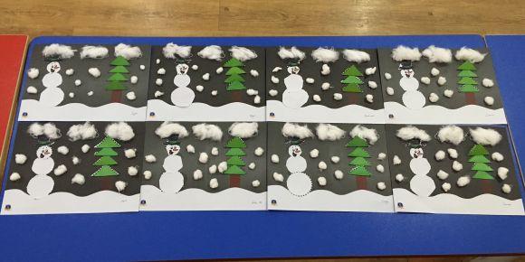 Kış temalı sanat etkinliğimiz