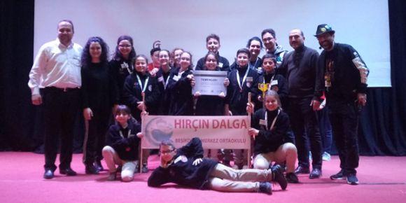 Hırçın Dalga, First Lego League Türkiye finalinde.
