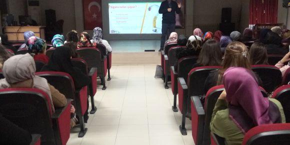 Halk Eğitim Merkezinde Madde Bağımlılığı konulu seminer
