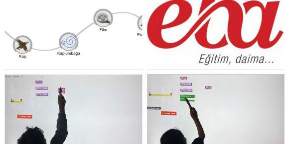 Eba'da blok tabanlı kodlama araçlarından blockly game ile kodlama yaptık