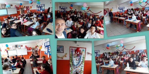 Hasan Atlı Ortaokulu 5-A sınıfı bayrama hazır