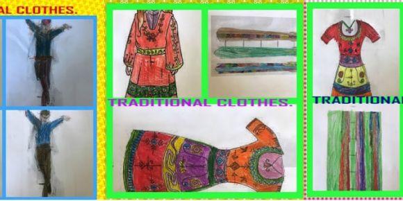 Geleneksel kıyafetler boyama etkinliği