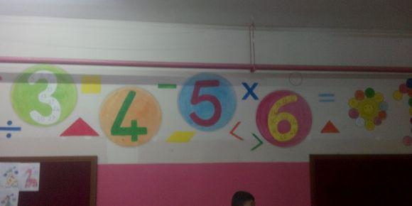 Sınıf duvarları ders konuları ile renklendi