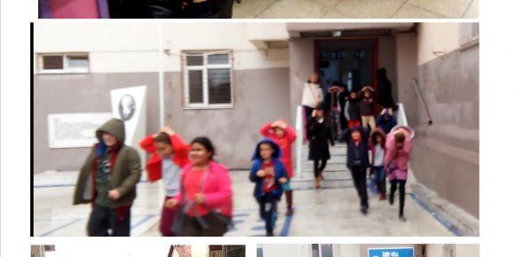 Okulumuzda Sivil Savunma Haftası deprem tatbikatı yapıldı