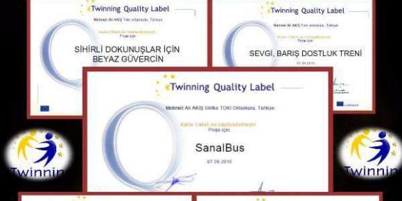 5 Projenin 5' inden de Ulusal Kalite Etiketi