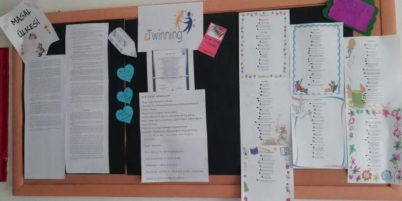 Yazar Olma Yolunda e twining projesi ilk etkinlikleri tamamlandı