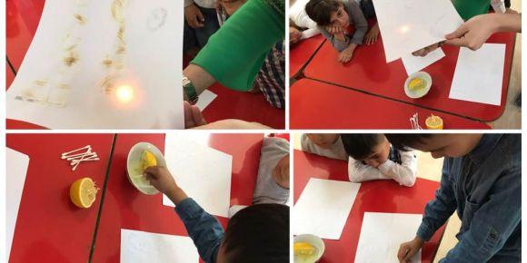 Sihirli limon yazısı yazıyoruz