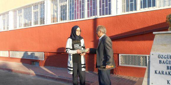 Konya'da 29 Ekim Cumhuriyet Bayramı konulu  şiir yarışmasında il ikincisi olduk