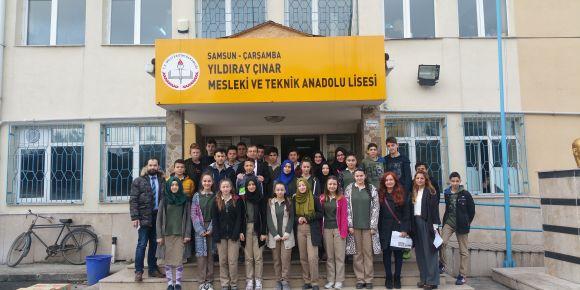 Yildir Çınar Mesleki ve Teknik Anadolu Lisesinin misafirleri