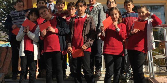 Kahraman Mehmetçiklerimizle 5. sınıf öğrencilerimizle mektuplarımızı gönderdik