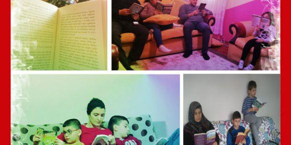 Velilerimiz ailece kitap okuma saati yaptı