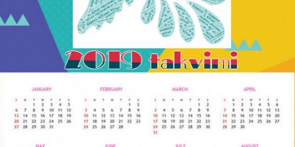 Word art ile yeni yıl takvimi yaptık