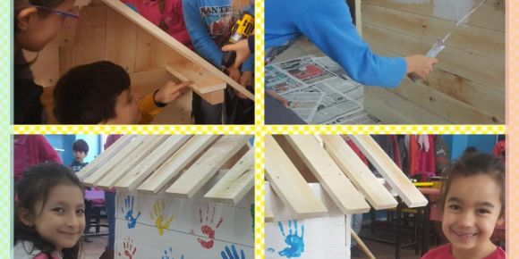 Materyalim projesi köpek kulubesi yapımı