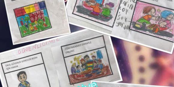 Koçarlı Atatürk İlkokulu Ne kadar güvendeyim peki ya sen güvende misin projesi