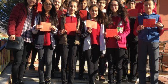 Kahraman Mehmetçiklerimize 7. sınıf öğrencilerimizle Moral Mektuplarımızı gönderdik