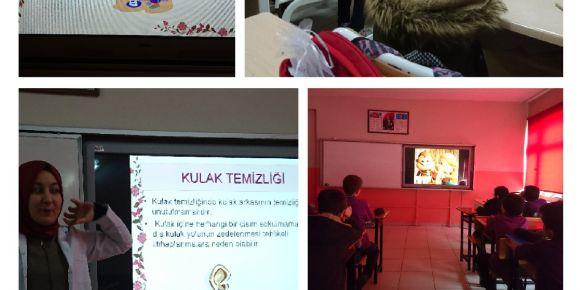Boyabat Fatih Sultan Mehmet İmam Hatip Ortaokulu Sağlıklı Yaşamı öğreniyor