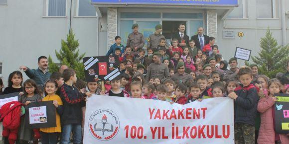 100.Yıl İlkokulu Jandarma ile okuyor