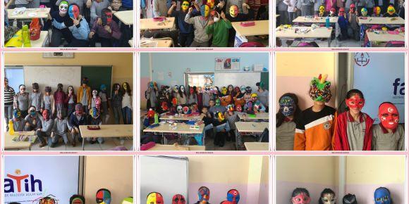 Batman Atatürk Ortaokulu öğrencilerinden hayalleri konuşturan maskeler