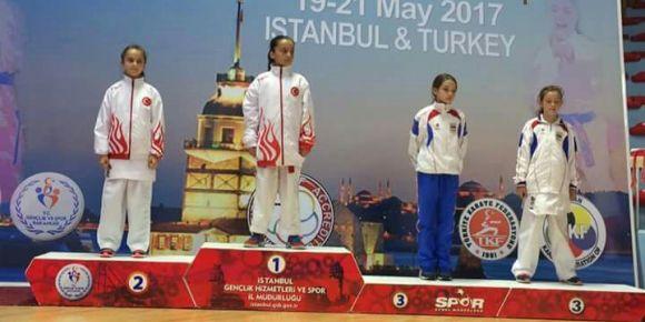 Okulumuz öğrencisinin 22.Balkan Çocuklar Karate Şampiyonası birinciliği