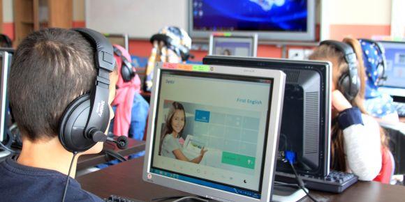 DynEd dil eğitimi sistemi okulumuzda aktif olarak kullanılmaya başlandı