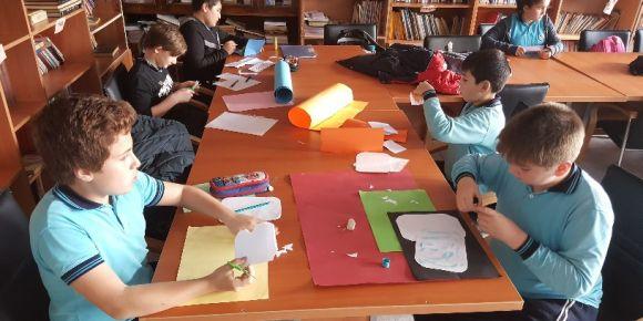 Kayadibi Ortaokulu yılbaşı kartları