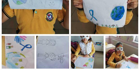Bir Milyon Mavi Kurdele projesinde broşürlerimiz hazırlandı