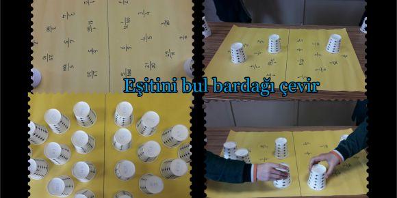 Eğlenceli Matematik dünyam projesi kapsamında ondalık gösterim konusunu oyun ile öğrettik