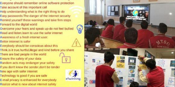 """Güvenli İnternet Günü """"My Digital Classroom"""" eTwinning Projesi Etkinlikleri"""