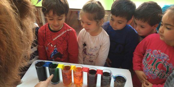 Ana renkleri karıştırarak ara renkleri elde ediyoruz