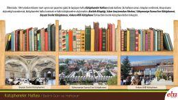 Kütüphaneler haftası ile hazırlanmış infografik çalışma.