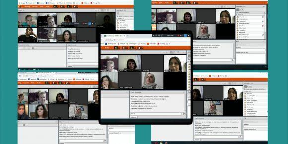 eTwinning Gelenekselden Dijitale projesi öğğretmen tanışma başlangıç webinarı